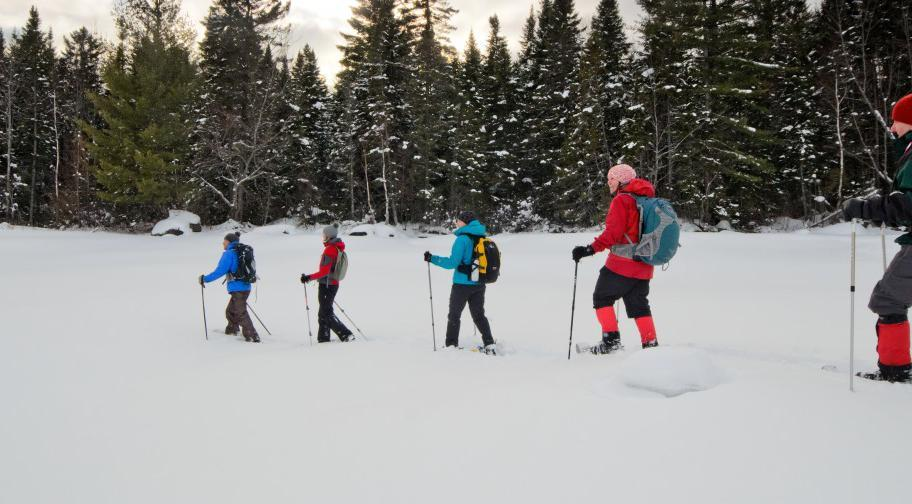 Snowshoeing at Parc national de Frontenac